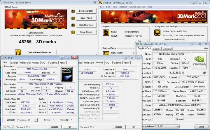 200111 EVGA GTS250 1GB DDR3