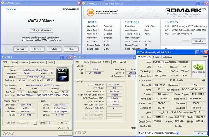 20031 AMD Phenom II X2 550 Black Edition แรงของจริง