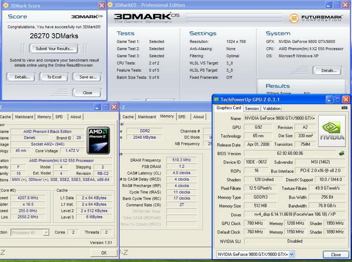 20051 AMD Phenom II X2 550 Black Edition แรงของจริง