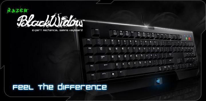razer blackwidow main 720x353 Mechanical gaming keyboard Razer Blackwidow พร้อมโปรโมชั่นโดนๆ ลงตลาดแล้ว