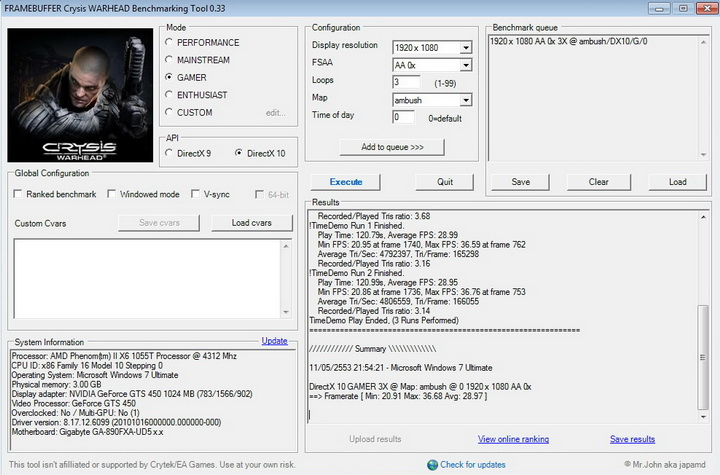 crysis2 inno3D GF GTS450 1GB DDR5
