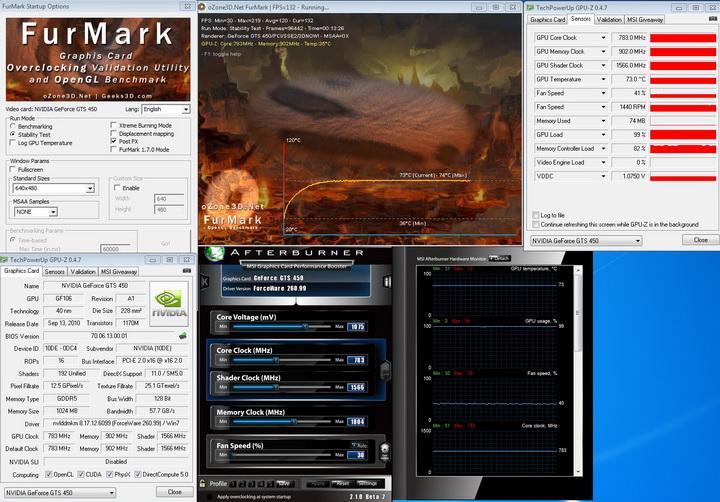 default inno3D GF GTS450 1GB DDR5