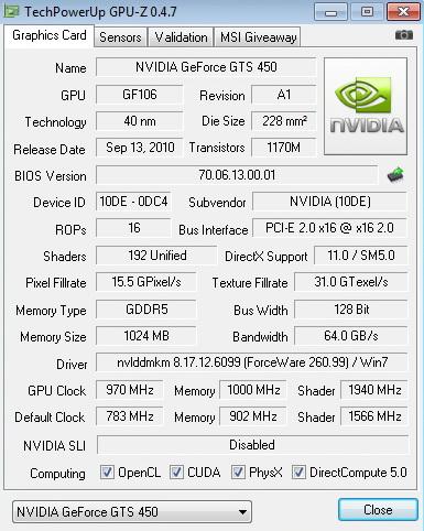 gpuz 970 1940 1000 inno3D GF GTS450 1GB DDR5
