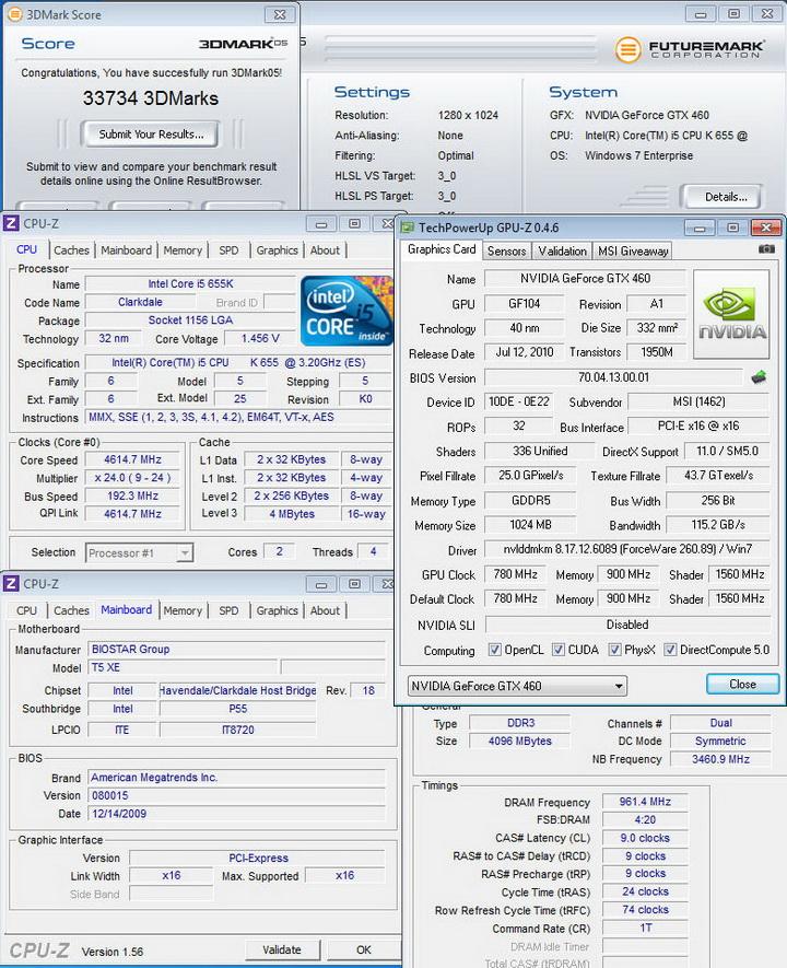 05 MSI N460GTX HAWK  Review