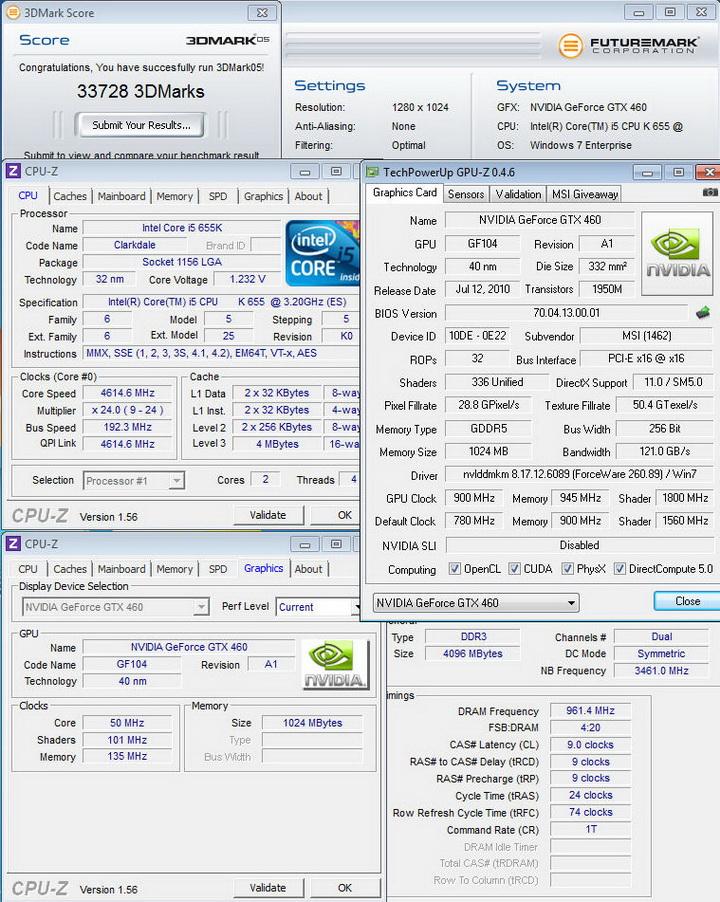 051 MSI N460GTX HAWK  Review