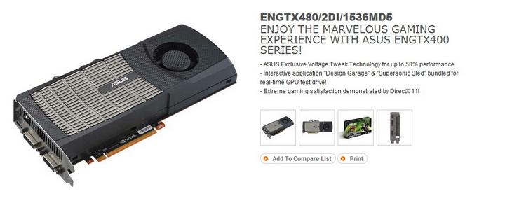 1 ASUS ENGTX480 1.5GB DDR5