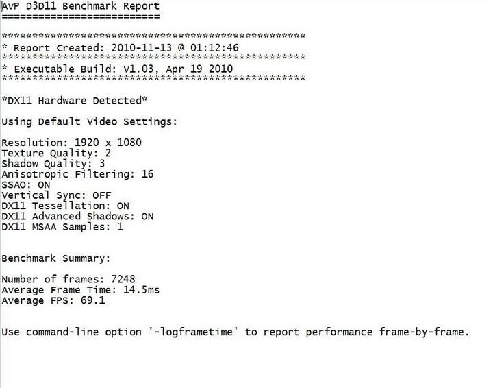 avp d3d11 benchmark ASUS ENGTX480 1.5GB DDR5