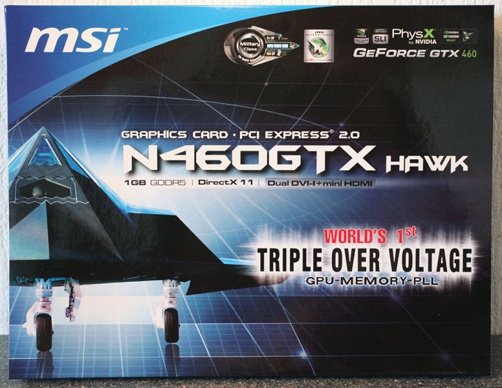 package1 MSI N460GTX HAWK  Review