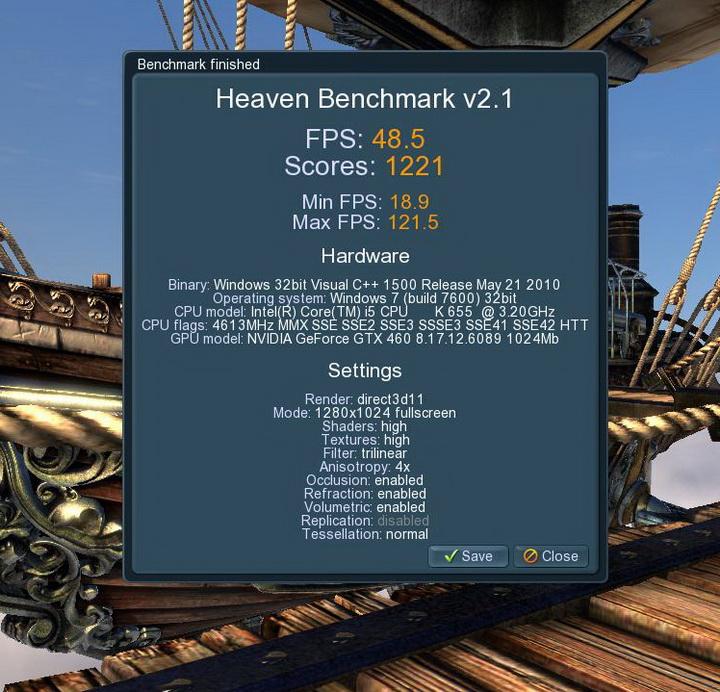 unigine 2010 10 31 05 48 36 37 MSI N460GTX HAWK  Review