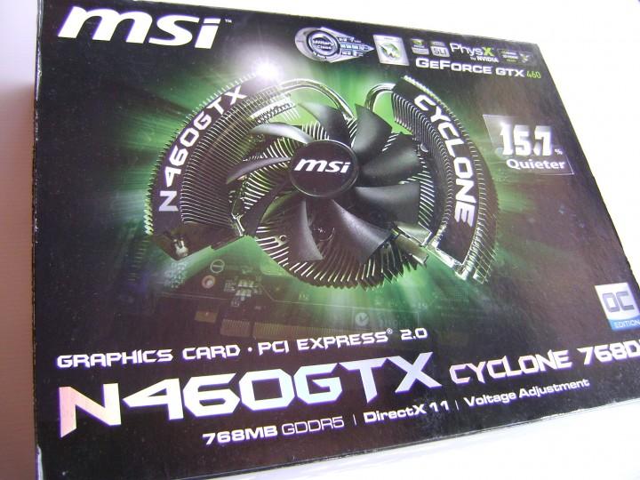 dsc04790 720x540 msi N460GTX Cyclone 768D5 OC EDITION