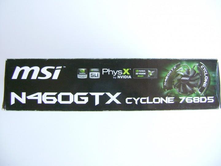 dsc04795 720x540 msi N460GTX Cyclone 768D5 OC EDITION