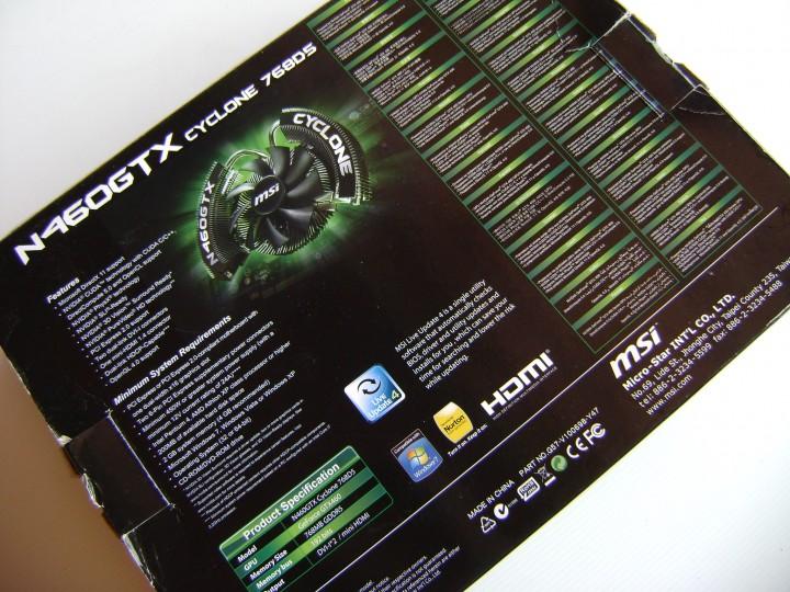 dsc04797 720x540 msi N460GTX Cyclone 768D5 OC EDITION