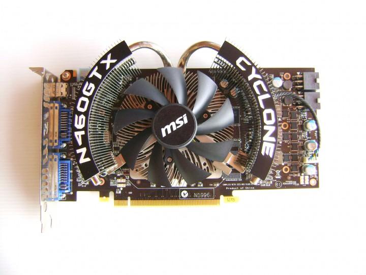 dsc04803 720x540 msi N460GTX Cyclone 768D5 OC EDITION