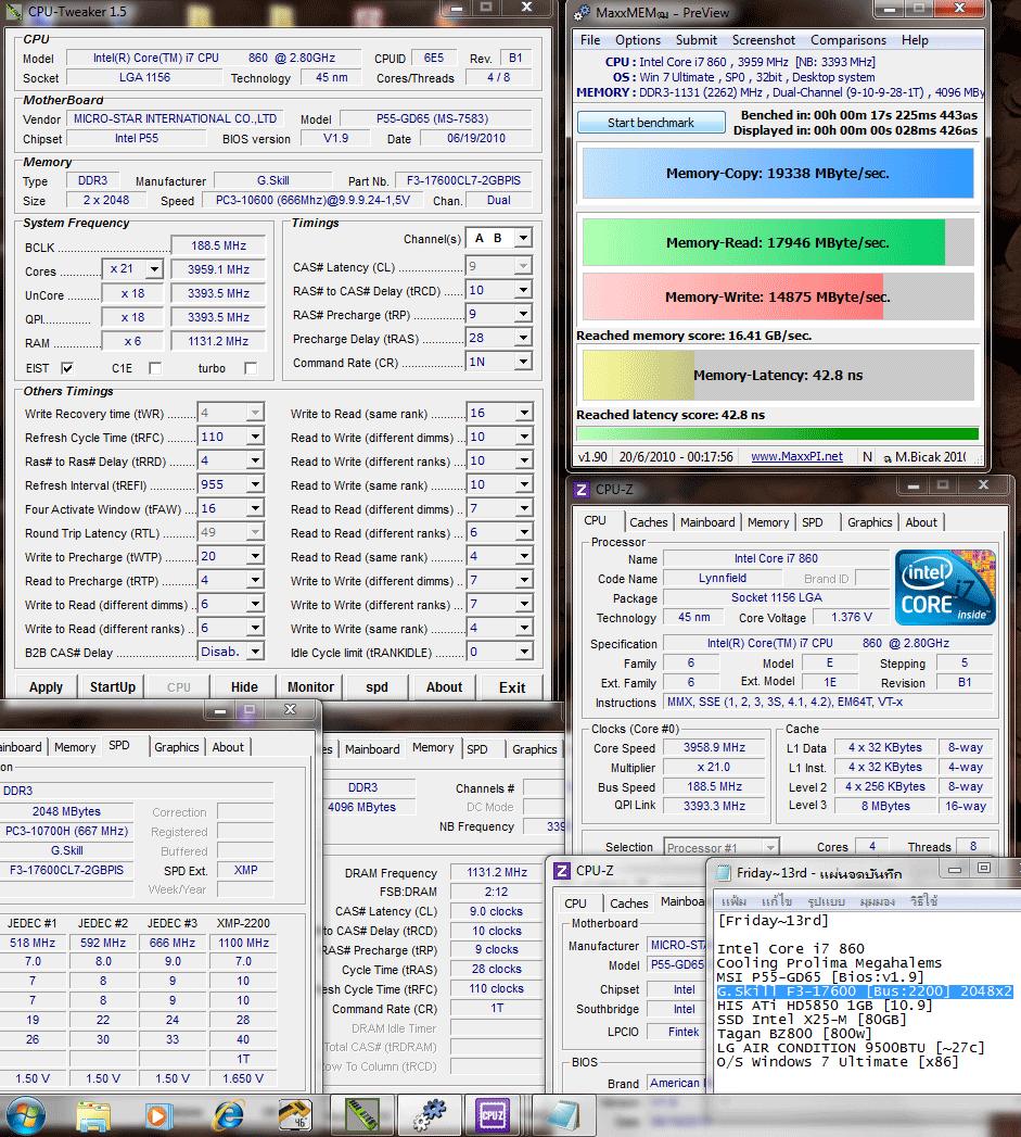 188x21 ddr3 2262 9 10 9 28 110 maxxmem Memory G.Skill F3 17600 CL7D 4GBPIS : Review