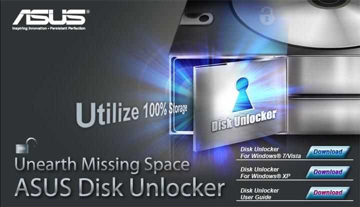 asus อัสซุส พัฒนาซอฟต์แวร์ Disk Unlocker เพื่อปลดล๊อคการใช้งานฮาร์ดดิสก์ได้อย่างเต็มประสิทธิภาพ สำหรับลูกค้ามาเธอร์บอร์ดของอัสซุสเท่านั้น