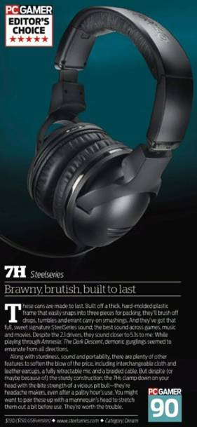 image002 SteelSeries 7H headset wins the PC Gamer Editors Choice award
