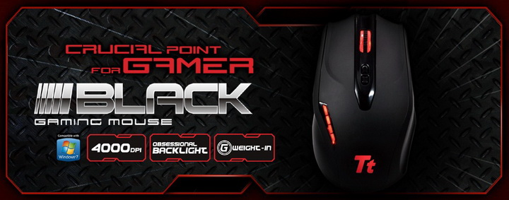 spec Tt eSPORTS Black Gaming Mouse