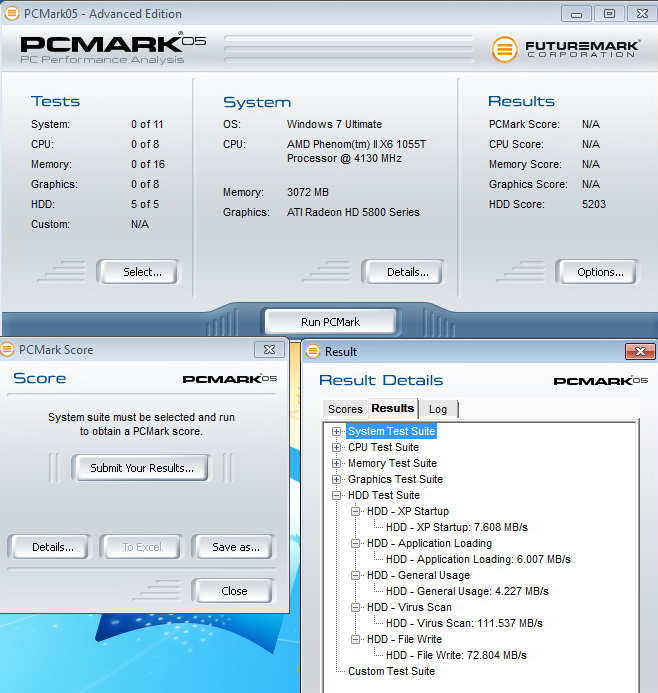 pcmark05 KINGMAX KE 71 External Hard Drive 2.5 500GB USB3.0