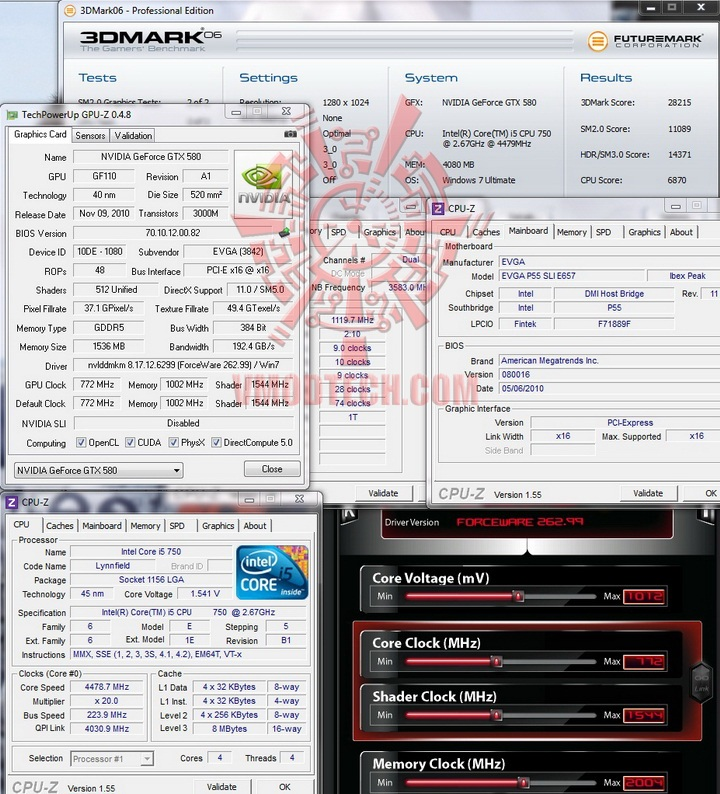 06 default 1 EVGA GTX580 Extreme Review