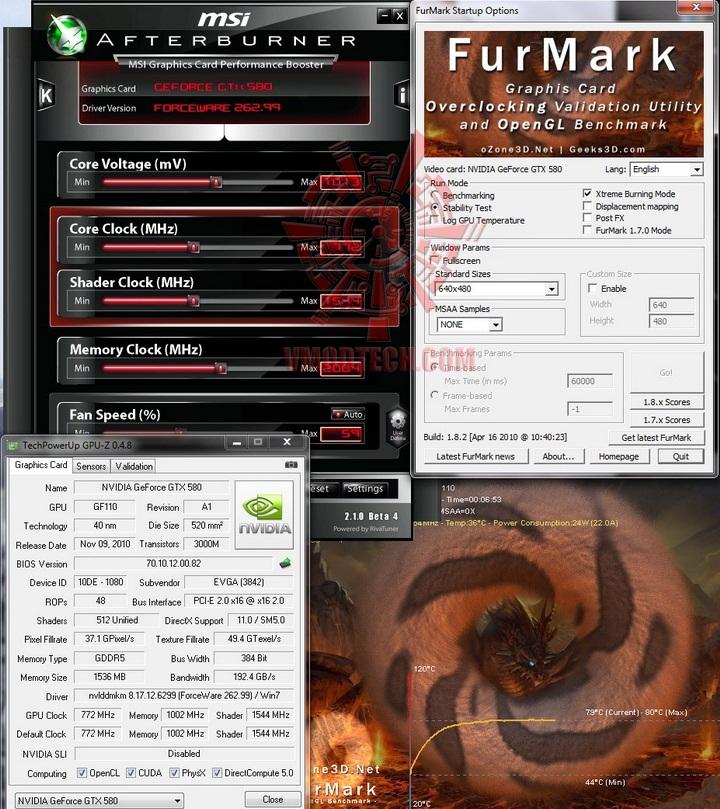 furmark default 1 EVGA GTX580 Extreme Review