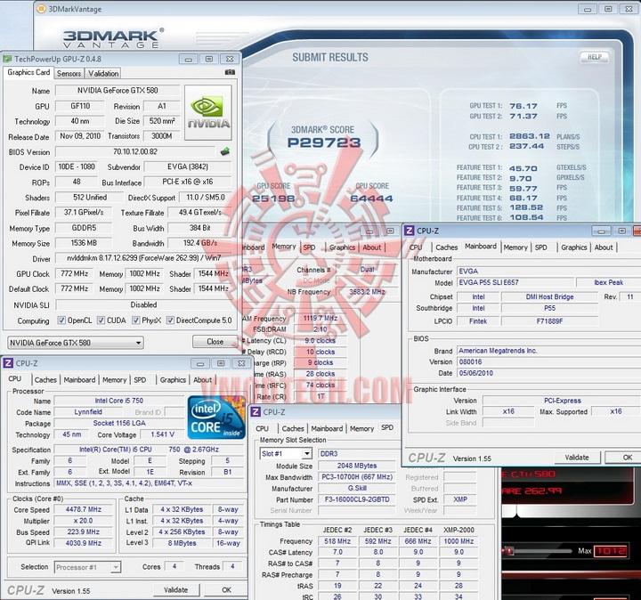 vantage default 1 EVGA GTX580 Extreme Review