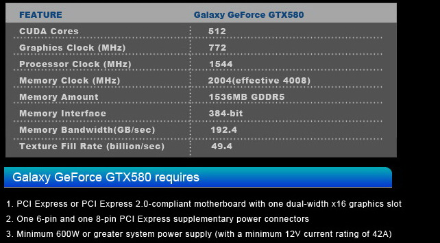 2 GALAXY GF GTX580 1536MB DDR5 Review