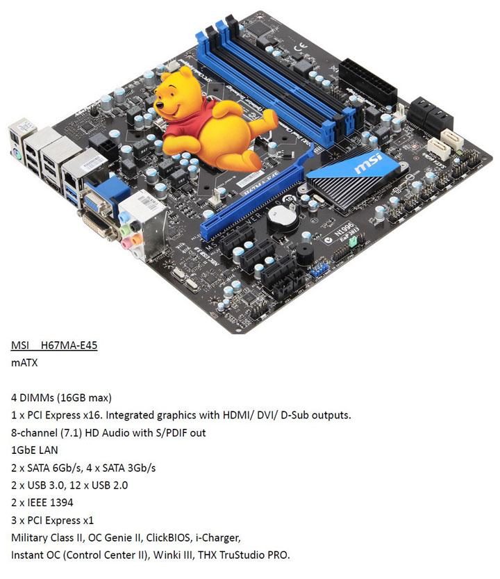 msi h67ma e45 MSI P67A GD65