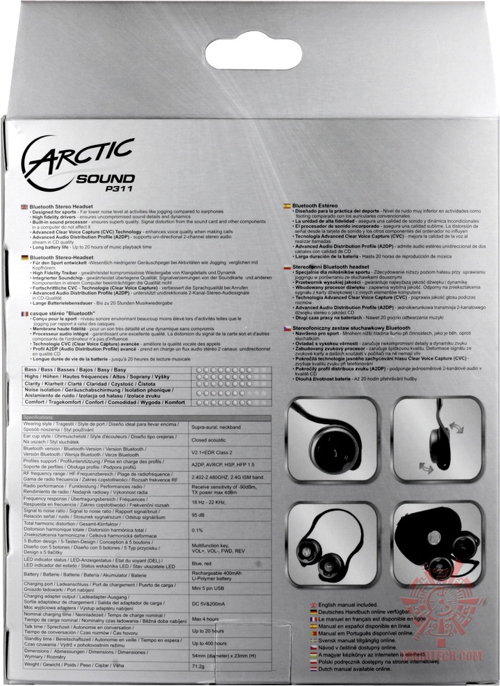 story3 Arctic Cooling P311 Bluetooth Stereo Headset