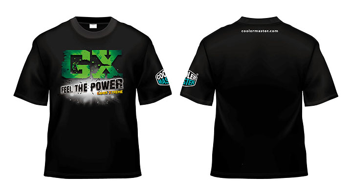 t shirt green 1 Cooler master GX Series Power Supply Promotion Part II