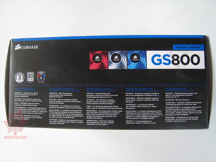 img 0604 Corsair Gaming Series GS800 Power Supply 80+ Review