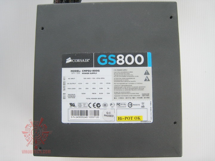 img 06121 Corsair Gaming Series GS800 Power Supply 80+ Review