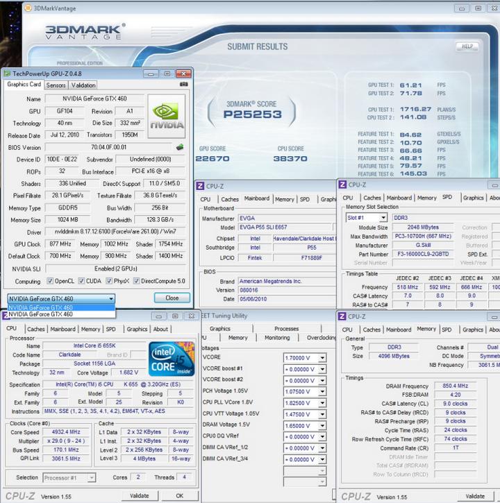 3dmark vantage1 Intel Core i5 655K Processors