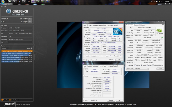 cinebench r11 open resize Intel Core i5 655K Processors