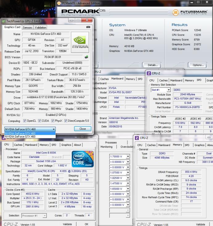 pcmark051 Intel Core i5 655K Processors
