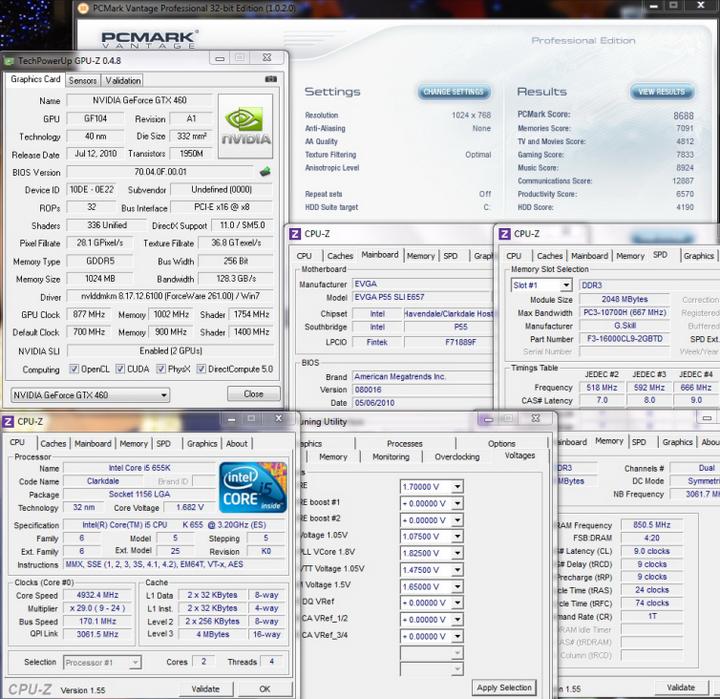 pcmarkvantage12 Intel Core i5 655K Processors
