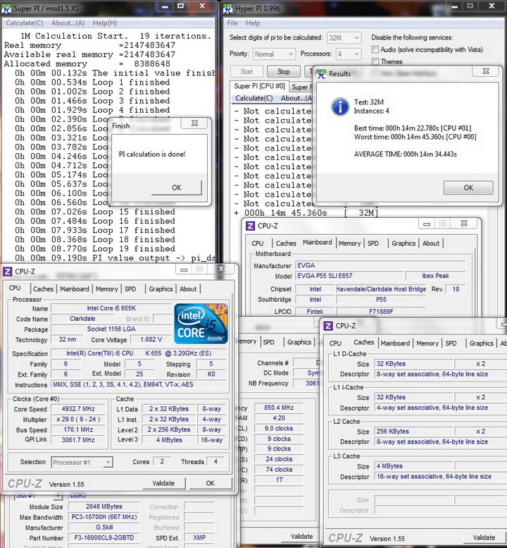 stability test Intel Core i5 655K Processors