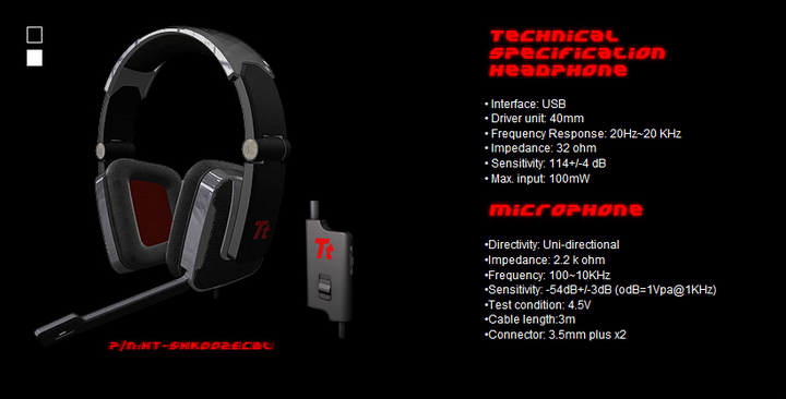 spec Tt eSPORTS Shock Gaming Headset