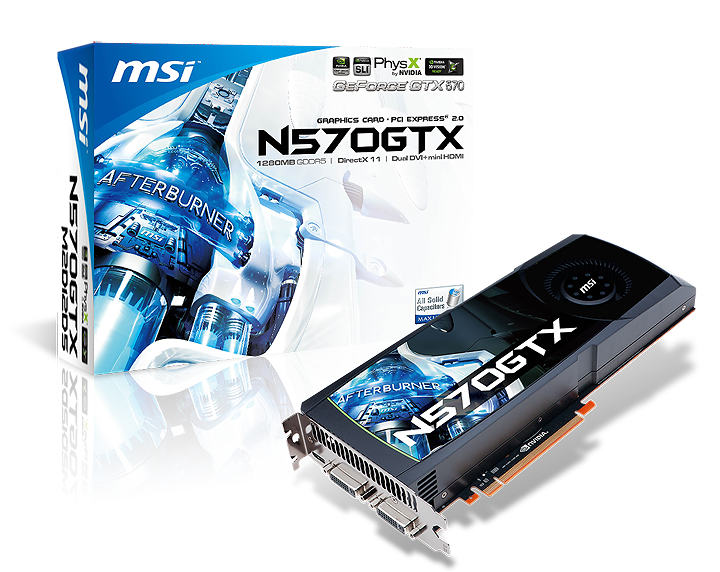 msi n570gtx m2d12d5v801 box NVIDIA GeForce GTX 570 1280MB GDDR5 Debut Review
