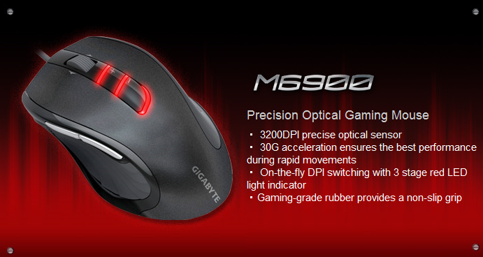 feature1 Gigabyte M6900 Optical Gaming Mouse