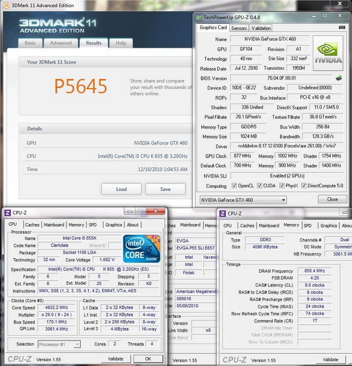 3d11 Intel Core i5 655K Processors