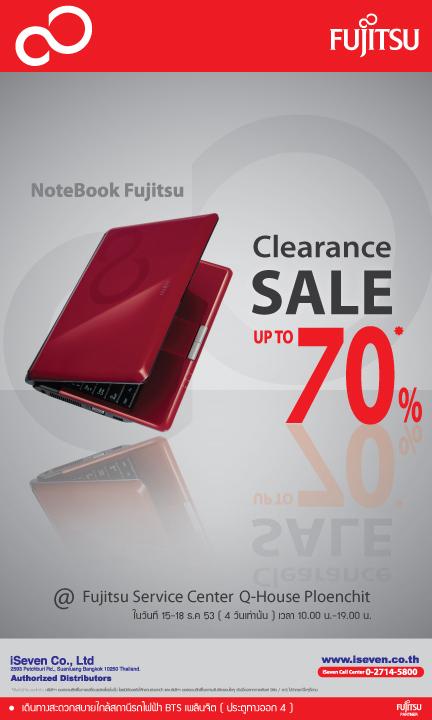 image001 Fujitsu Clearance SALE up to 70% โน้ตบุ๊คคุณภาพ ลดราคาครั้งยิ่งใหญ่