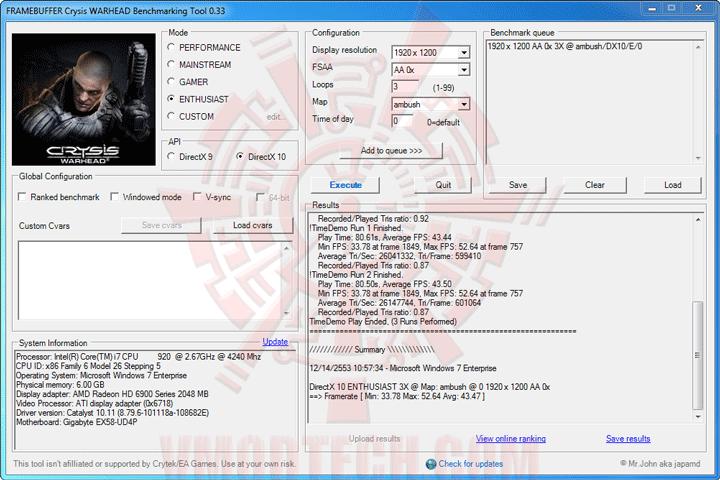 wh oc GIGABYTE AMD Radeon HD 6970 2GB GDDR5 Debut Review