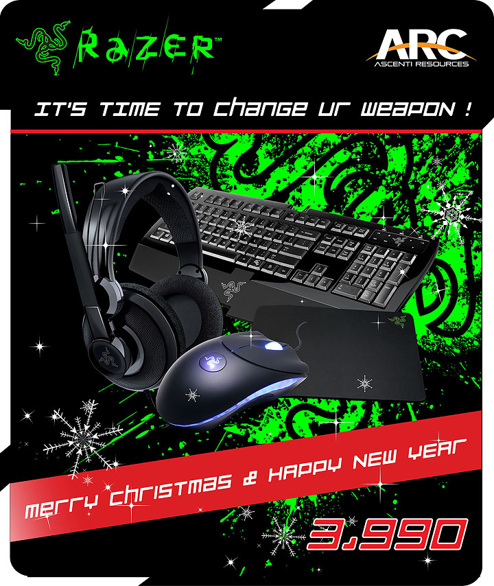untitled Razer Merry Christmas & Happy New Year Set 3,990THB.!!