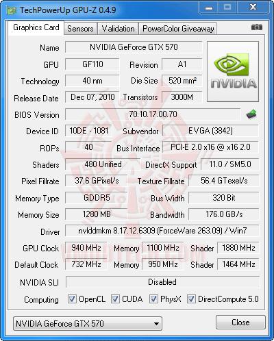 gz ov EVGA GeForce GTX 570 1280MB GDDR5 Overclocking Review