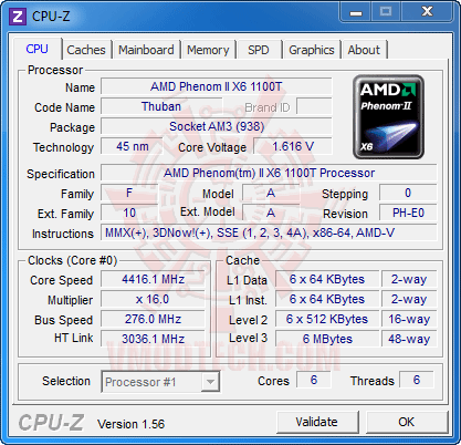 c1 AMD Phenom II X6 1100T Black Edition Overclocking Review