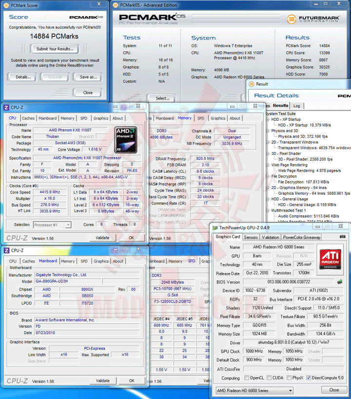 pcm05 AMD Phenom II X6 1100T Black Edition Overclocking Review