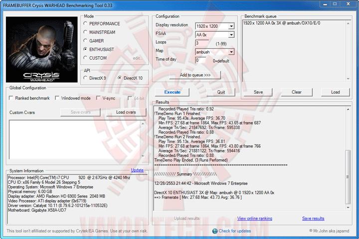 wh 1 ปลดปล่อยพลัง HD 6950 ให้กลายเป็น HD 6970 กันแบบเต็มๆง่ายๆและแรงๆ