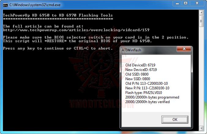 8 ปลดปล่อยพลัง HD 6950 ให้กลายเป็น HD 6970 กันแบบเต็มๆง่ายๆและแรงๆ