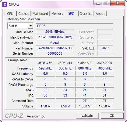cpuz mem AVEXIR Blitz Gaming Series DDR3 2,000 MHz