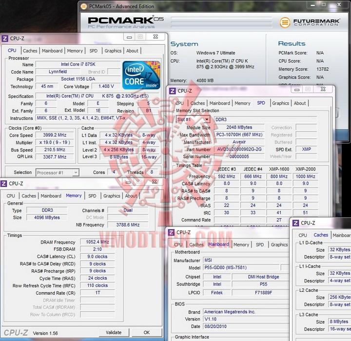 pcmark 05 1 AVEXIR Blitz Gaming Series DDR3 2,000 MHz